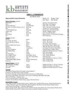 Erica Anderson Resume Acting