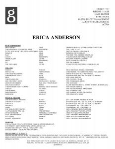 Erica Anderson's resume
