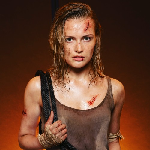 Erica Anderson as Lara croft