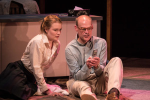 Erica Anderson and Geoff McBride in Lo(or Dear Mr Wells) at the GCTC